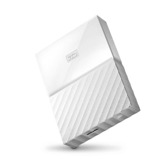 WD My Passport 4TB - Disco duro portátil y software de copia de seguridad automática para PC, Xbox One y PlayStation 4 - blanco