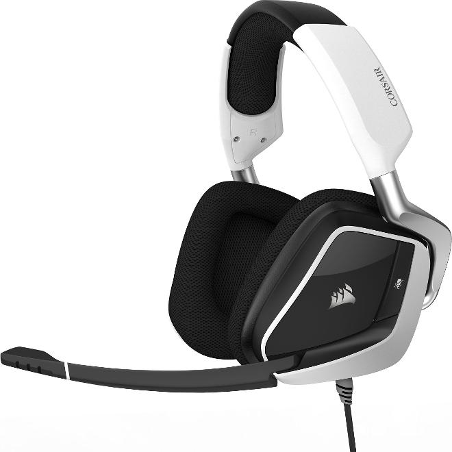 Corsair Void Pro RGB - Auriculares gaming (para PC, USB, Dolby 7.1), blanco (CA-9011155-EU)