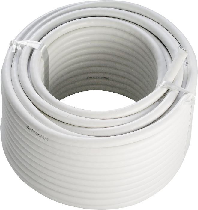 Schwaiger KOX120 Cable Coaxial (90dB) 20m Blanco