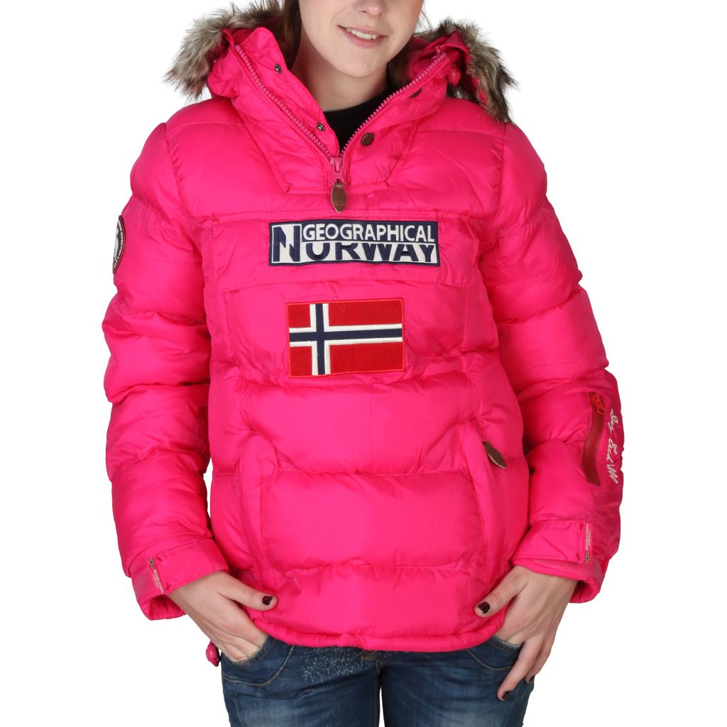 chaqueta acolcahada con capucha geographical norway bolide rosa moda lovities. Black Bedroom Furniture Sets. Home Design Ideas