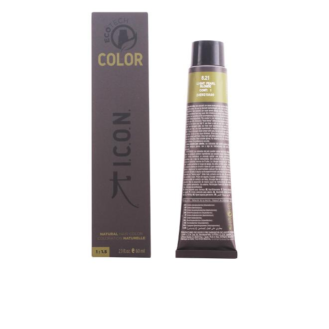 I.c.o.n. - I.c.o.n. Coloración Permanente, Tono 8.21 Light Pearl Blonde - 60 ml