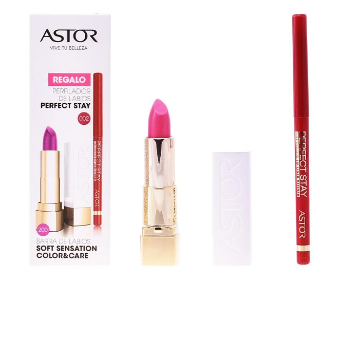 Astor - Soft sensation #200-glamurous pink + lip liner